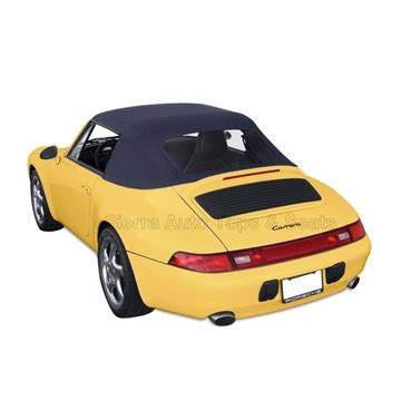 porsche 993 carrera 1995 1998 blue convertible soft top