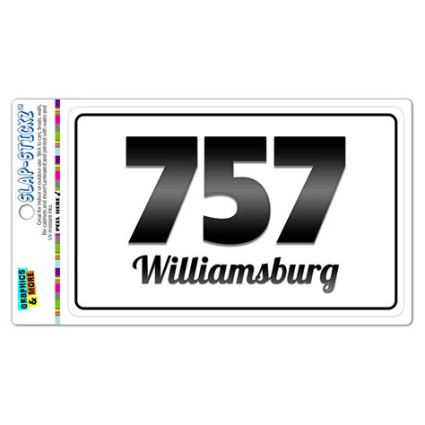 Area Code 757 Lookup Area Code B W Window Laminated Sticker 757 Virginia Va Parksley Zuni Ebay