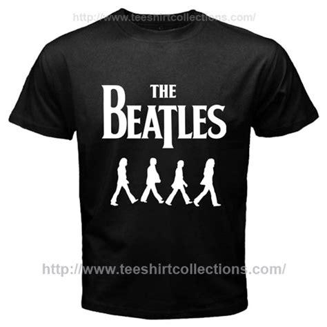 Kaos Band The Beatles Original Gildan Road Logo White the beatles road album walking silhouette logo black t shirt teespot