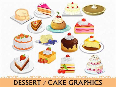 clipart dolci kuchen clip grafik essen s 252 223 igkeiten dessert clipart