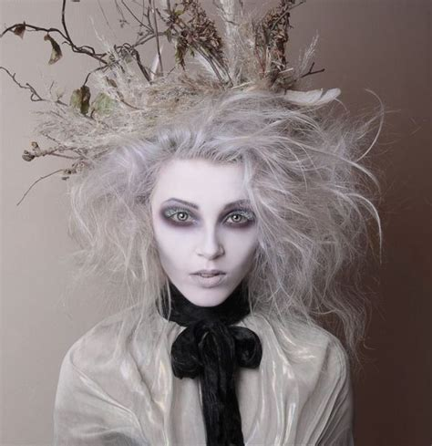 hair and makeup halloween tim burton inspired makeup hollow eyes and white