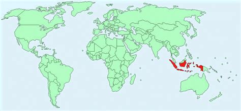 Indonesia Map World by Indonesia Facts And Figures