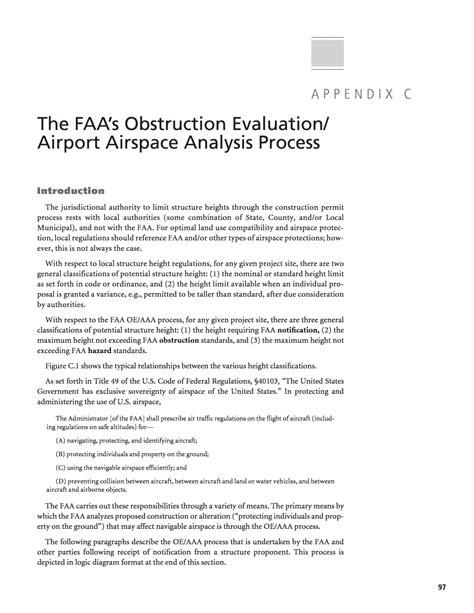 Appendix C The Faa appendix c the faa s obstruction evaluation airport