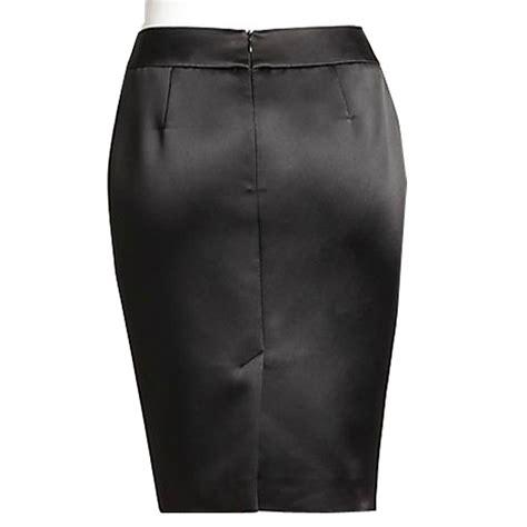 chocolate brown bridal satin pencil skirt elizabeth s