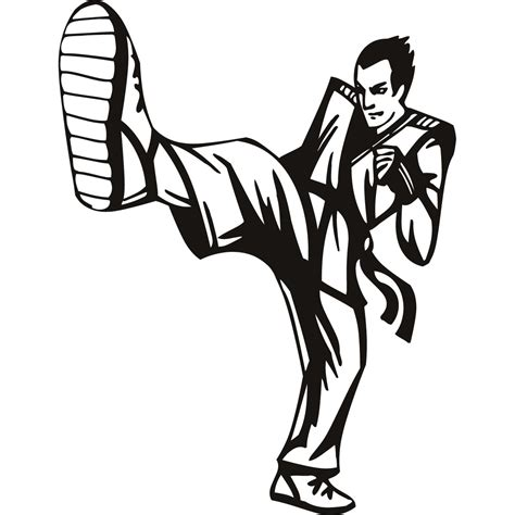 kick the karate kick big foot martial arts cad 2 00 irononsticker