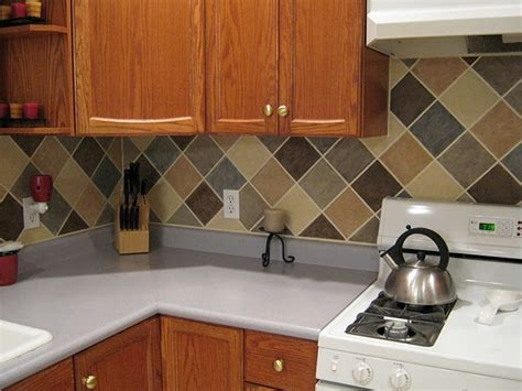 diy tile kitchen backsplash diy cheap backsplash no tile diy pinterest
