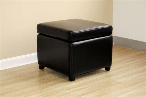 Small Leather Ottoman Cube Baxton Studio Leather Small Storage Cube Ottoman