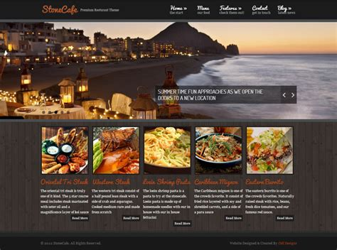 12 step cafe home page 25 delicious wordpress themes for restaurants and cafes