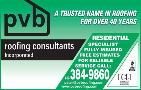 roofing napanee in pvb roofing consultants ads 1