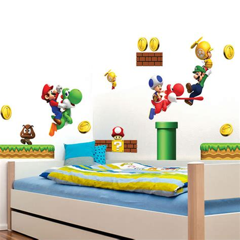 stickers for kids bedrooms cartoon stickers super mario wall stickers for kids rooms