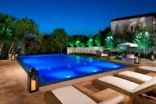 Backyard Furnishings Modern Backyard Retreat Mediterranean Pool Dallas