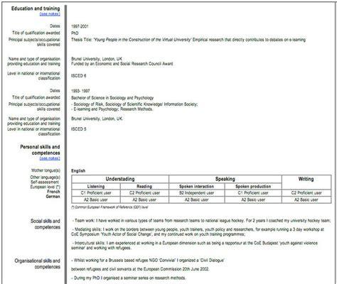 Formato Europeo Curriculum Vitae Da Compilare On Line Come Scrivere Il Curriculum Vitae Europeo Bramante