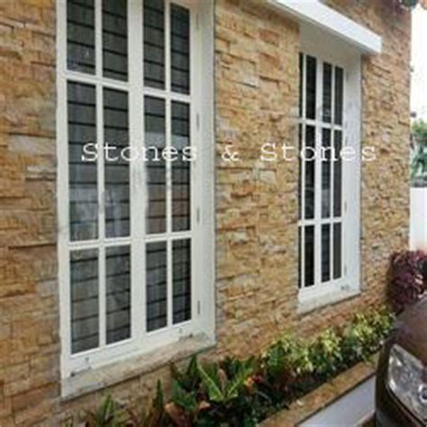 brown stone tile indian home front design with glass external wall tiles stones stones manufacturer in
