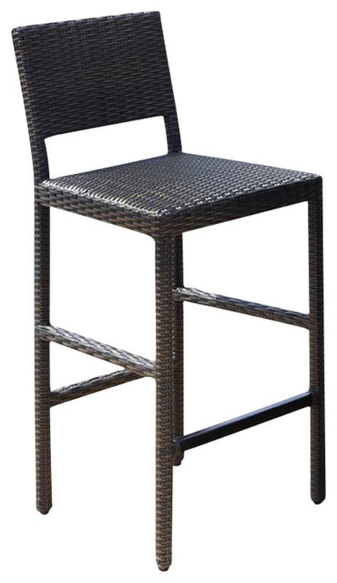 home styles riviera outdoor woven bar stool in brown