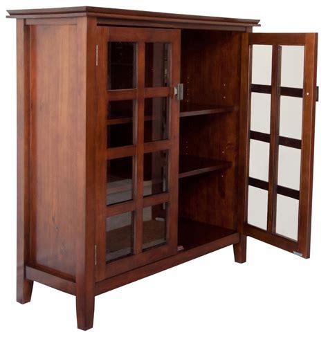 simpli home artisan medium storage cabinet amazon com simpli home axchol007 artisan collection