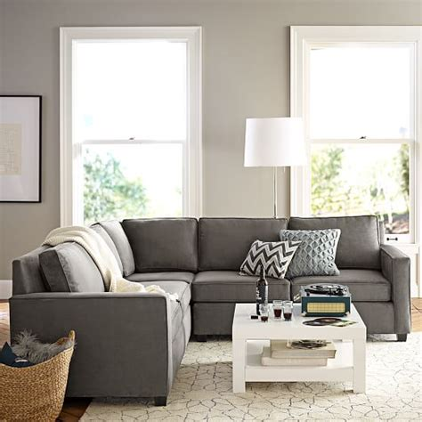 west elm henry sectional henry 174 3 piece l shaped sectional west elm