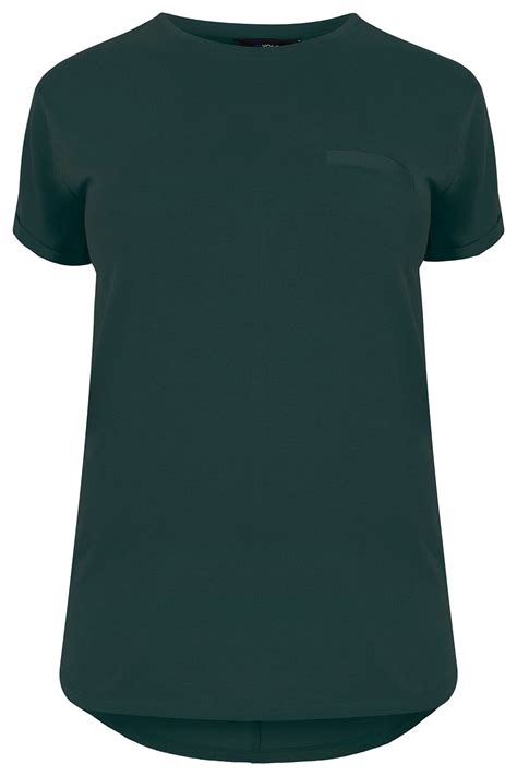 Tshirt Circle C3 t shirt vert fonc 233 ourlet arrondi