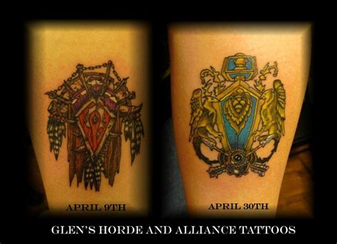 alliance tattoo horde and alliance by lorcangallagher on deviantart