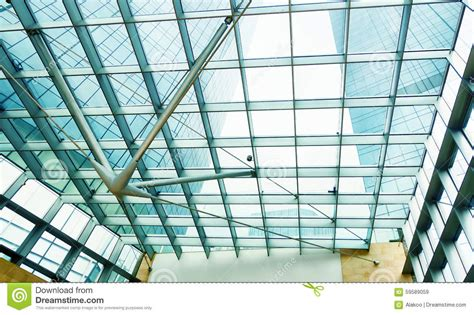 modern glass office commercial building stock image