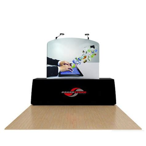 6ft waveline tension fabric table top trade show display