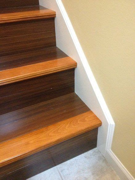 tone stain  stairs leading   basement