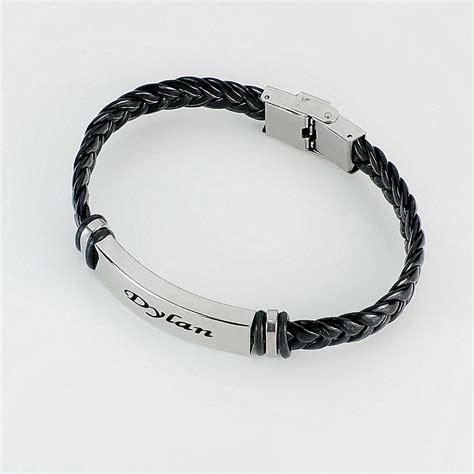 Leather Bracelet Black black braided leather bracelet