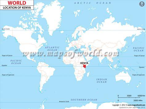 kenya on a world map where is kenya location of kenya
