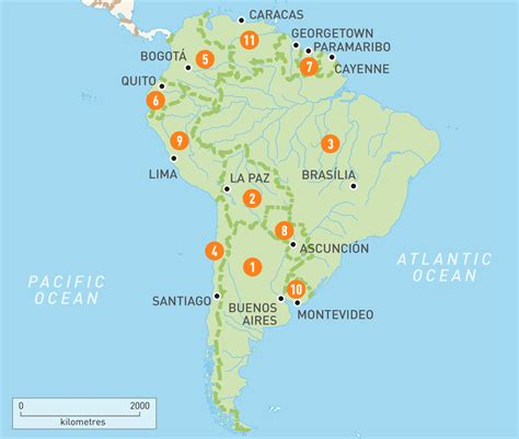 and south america map map of south america south america countries