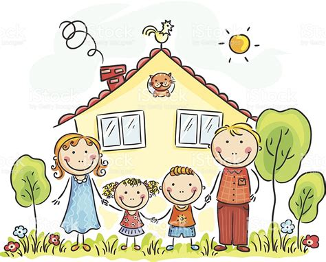 house family family house stock vector art more images of cartoon
