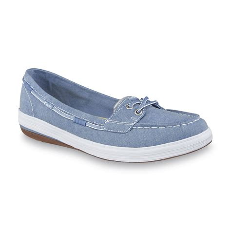 boat shoes online shopping keds women s glimmer blue chambray boat shoe shop your