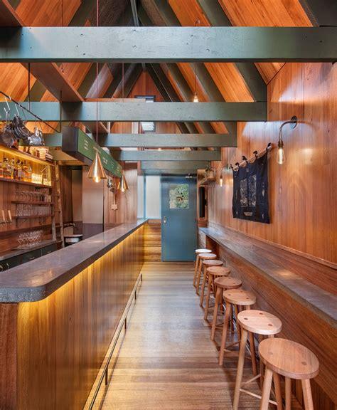 Narrow Home Bar Sans Arc Studio Tucks Pink Moon Saloon Into Alleyway