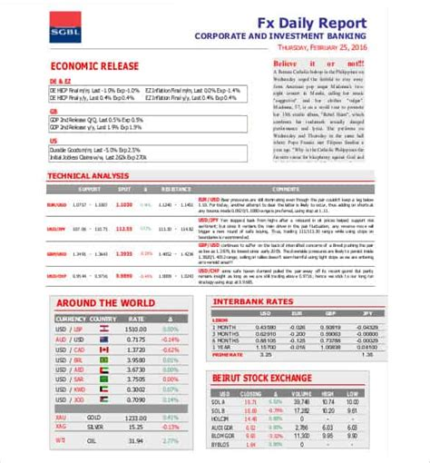 56 Daily Report Templates Pdf Doc Excel Free Premium Templates Investment Report Template Excel