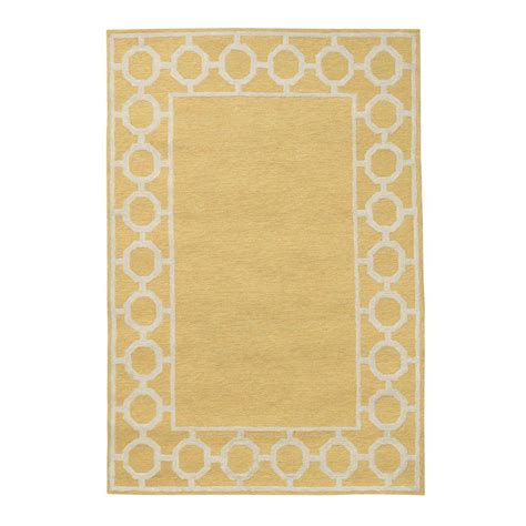 home depot rug coupon home decorators collection espana border yellow 5 ft x 7 ft 6 in area rug 0943120510 the