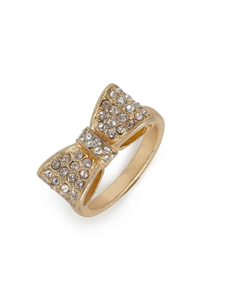 baublebar gold bow ring in gold lyst
