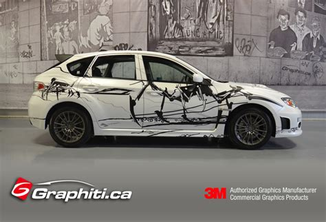 subaru wrapped subaru wrx custom car wrap graphiti