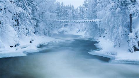 hd winter bridge wallpaper