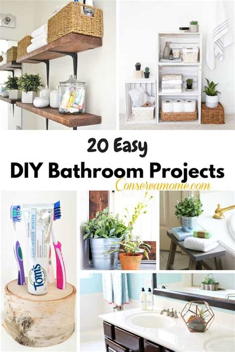 diy projects bathroom 20 easy diy bathroom projects conservamom