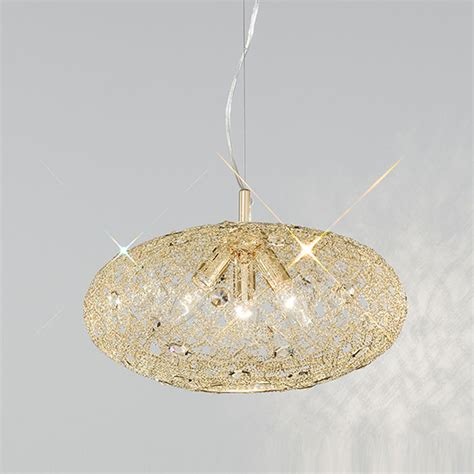 franklite fl2286 3 sirius 3 light gold ceiling pendant