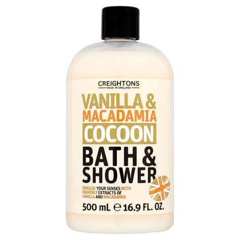 shower gel for bath creightons vanilla macadamia cocoon bath shower 500ml