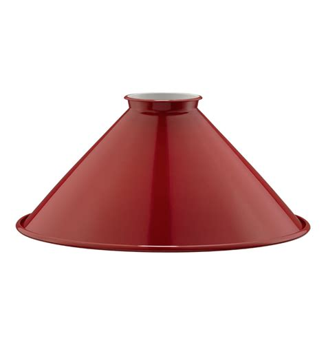 industrial metal l shades 8in industrial painted steel cone shade red rejuvenation