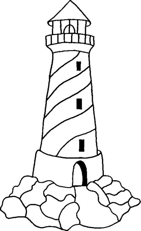 lighthouse coloring pages lighthouse drawings cliparts co