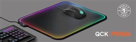 Mousepad Steelseries Qck Prism Rgb steelseries qck prism rgb mousepad dual surface 12 zone lighting with gamesense