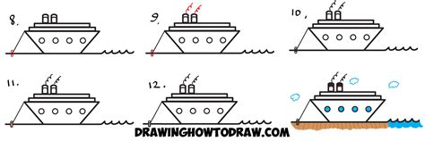 how to draw a boat using shapes how to draw a cartoon ship from the letter z shape easy