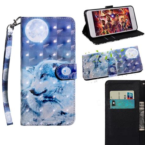 Samsung Galaxy S10 6 1 Inch by Moon Wolf 3d Painted Leather Wallet For Samsung Galaxy S10 6 1 Inch Galaxy S10 Cases