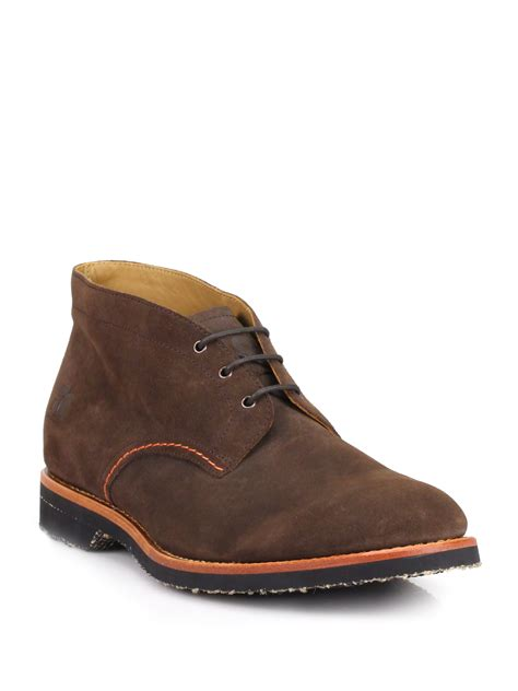 brown chukka boots orange arizar chukka desert boots in brown for