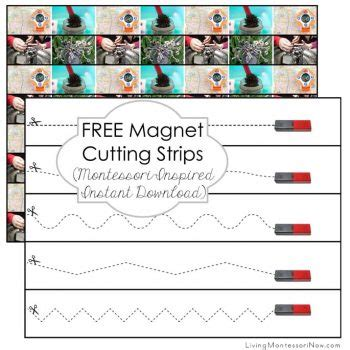 printable montessori cutting strips free moon cutting strips montessori inspired instant