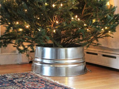 decorating a steel barn for christmas diy galvanized tree collar hack diy network made remade diy