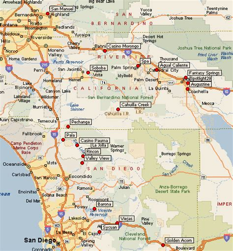 san francisco casinos map casinos southern california map california map