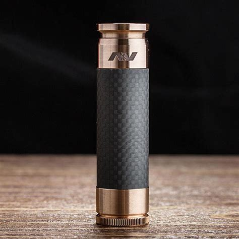 Av Able Blavk Carbon av able lyfe style 18650 mech mod kit
