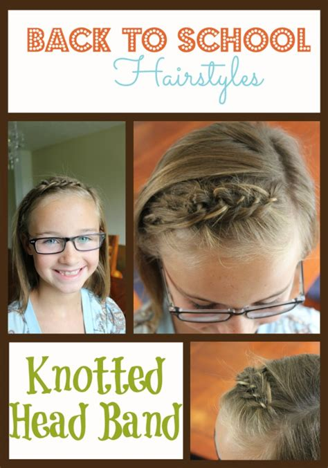 diy back to school hairstyles for hair back to school hairstyles knotted band